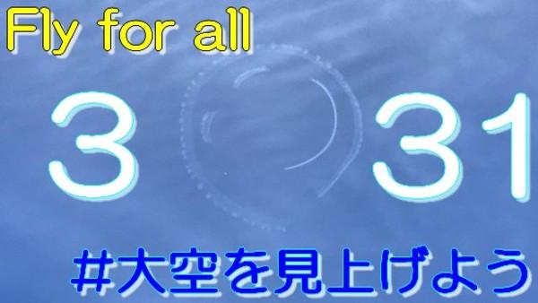 飛行イベント Fly for all #大空を見上げよう